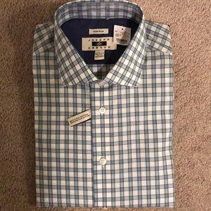 Joseph Abboud blue plaid shirt